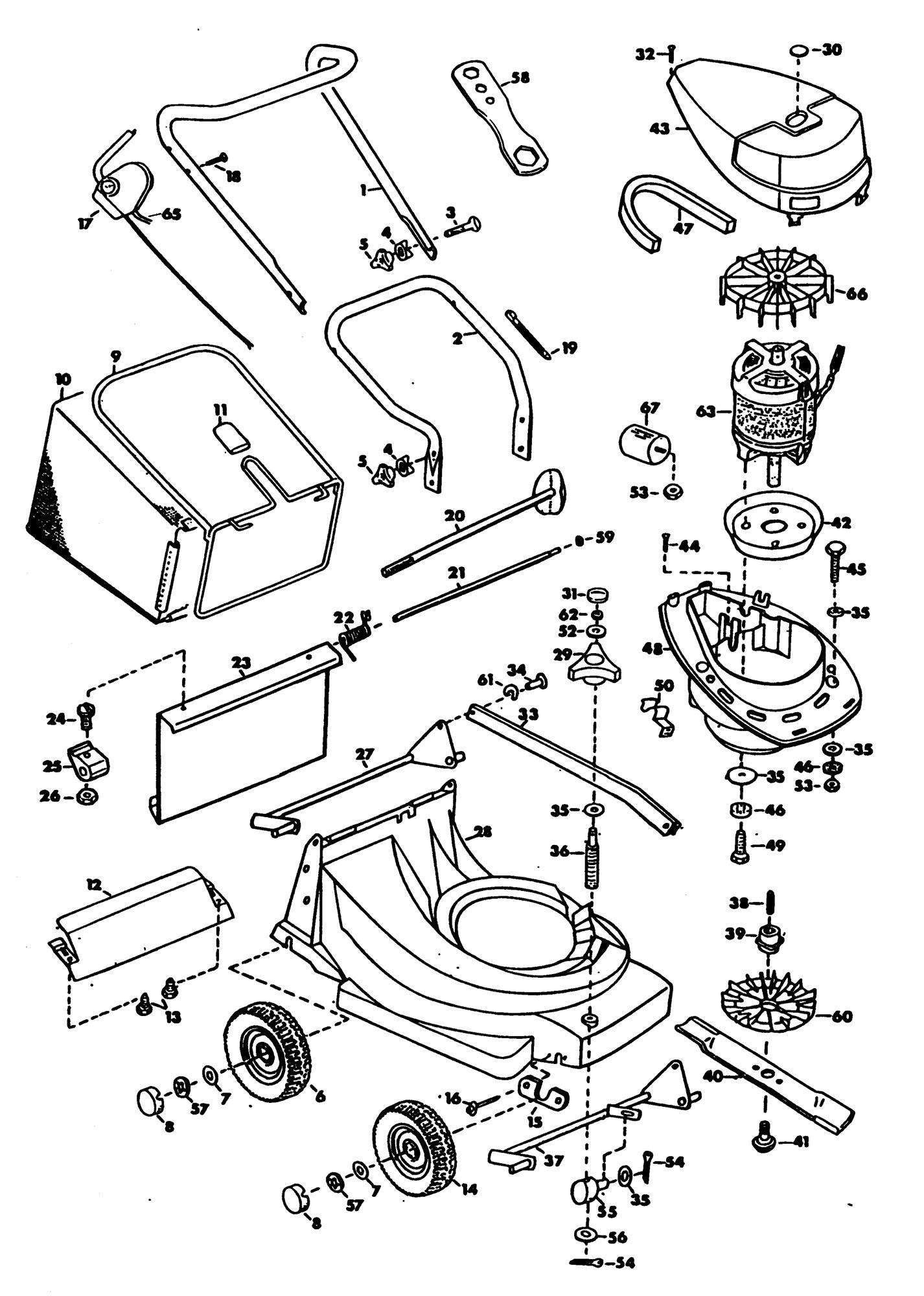 Spares for Black & Decker Gr520c Rotary Mower (type 1