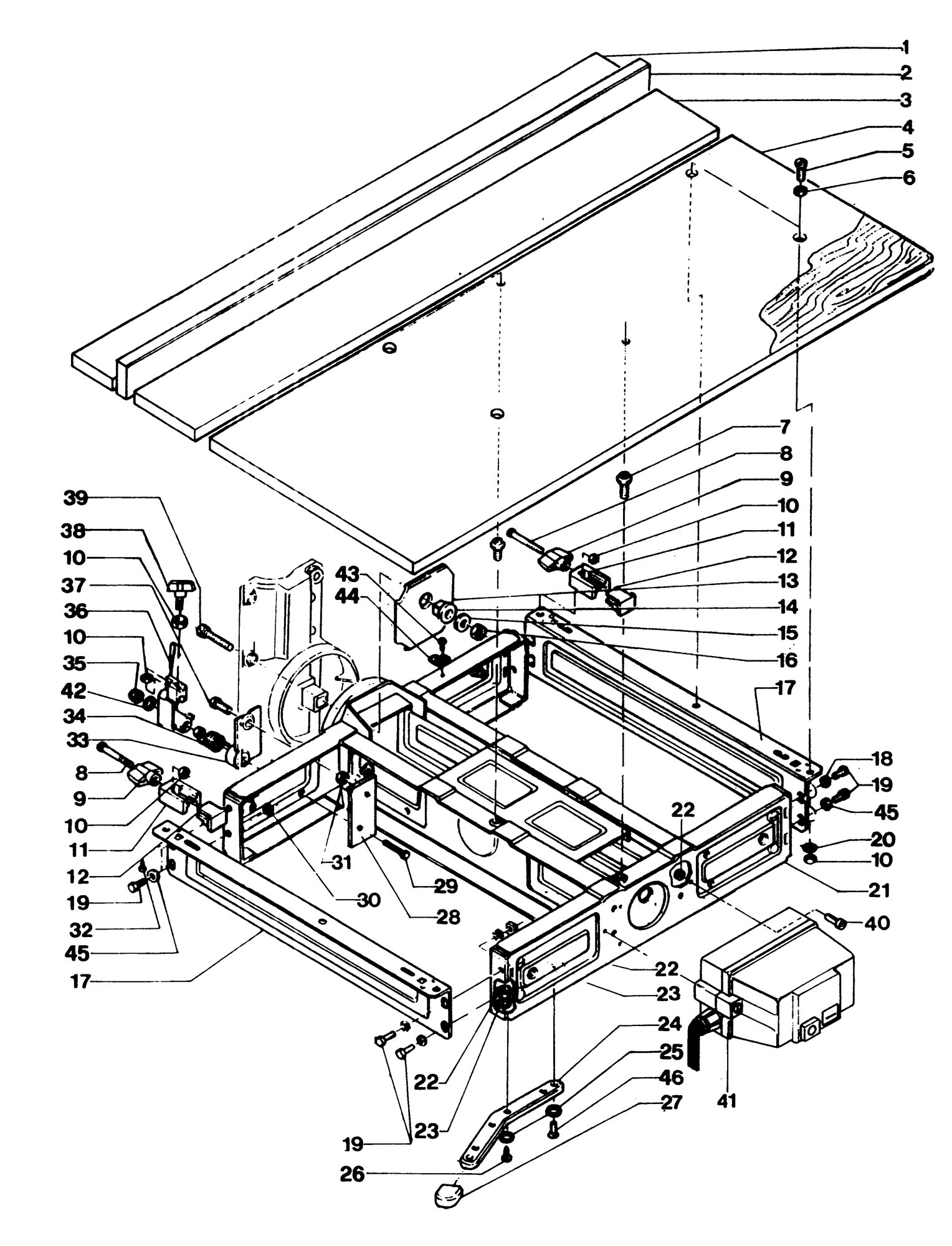 Spares for Dewalt Dw1201----d Radial Arm Saw (type 1