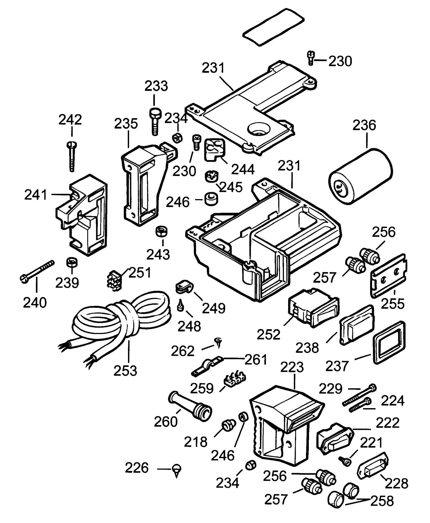 Spares for Dewalt Dw1251 Radial Arm Saw (type 1) SPARE