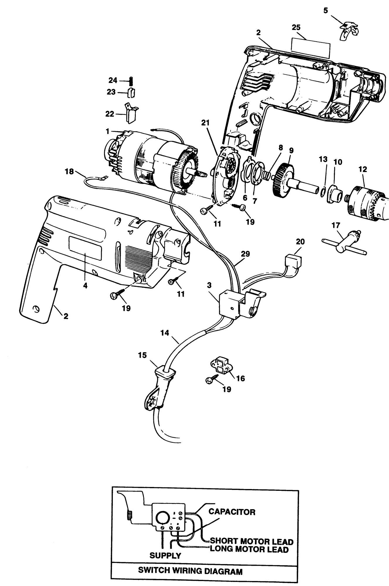 Spares for Black & Decker Bd143v Hammer Drill (type 1