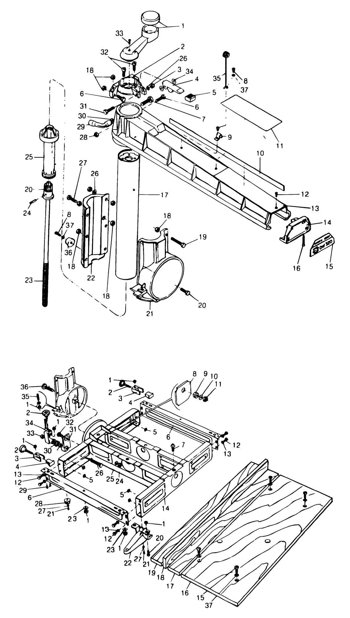 Spares for Dewalt Dw320-----a Radial Arm Saw (type 1