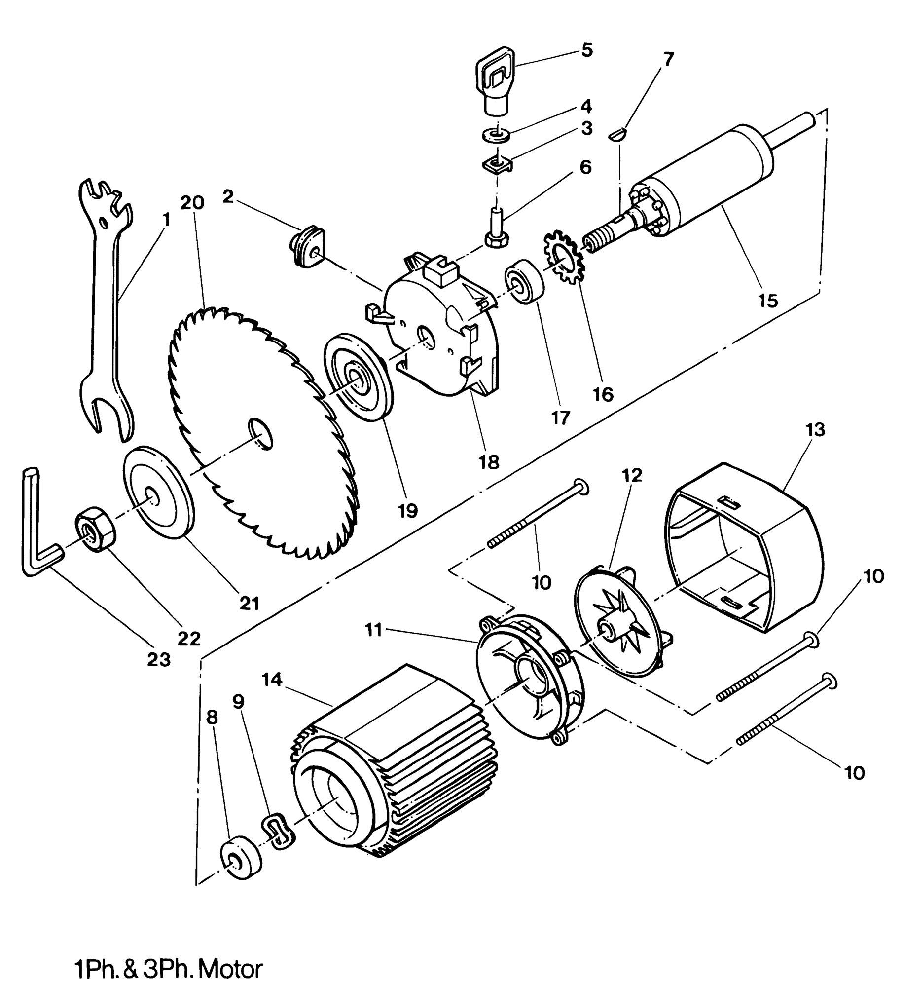 Spares for Dewalt Dw1501----h Radial Arm Saw (type 1
