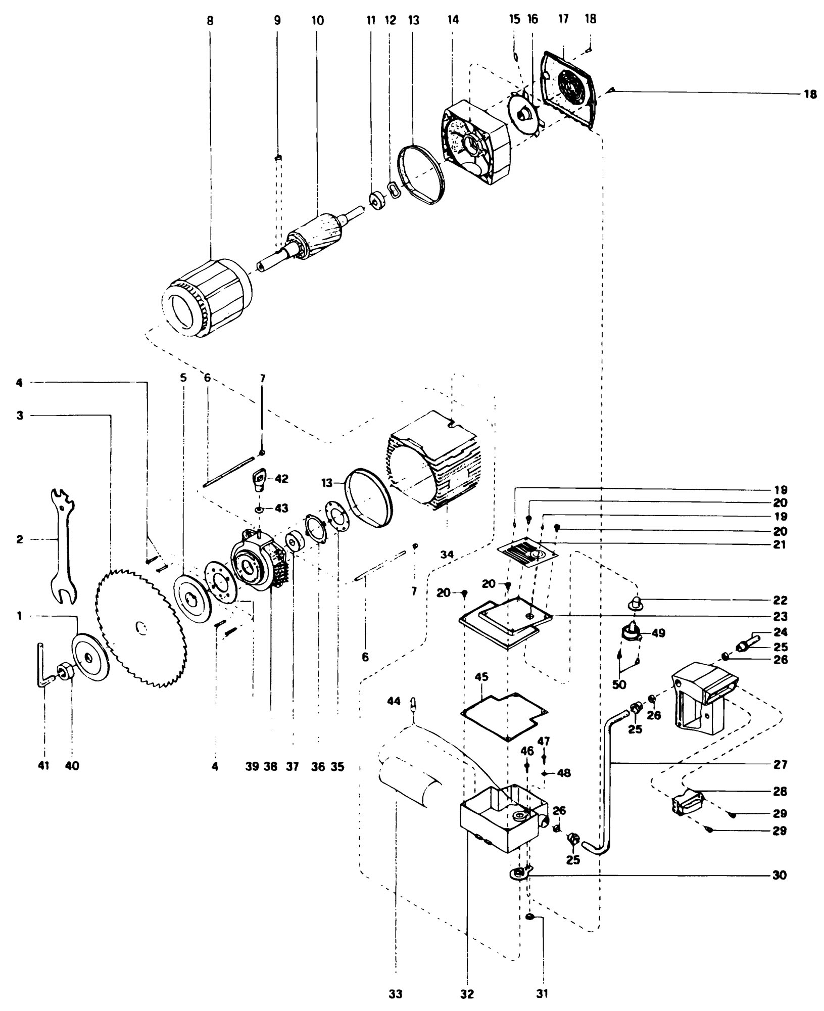 A Craftsman Radial Arm Saw Wiring