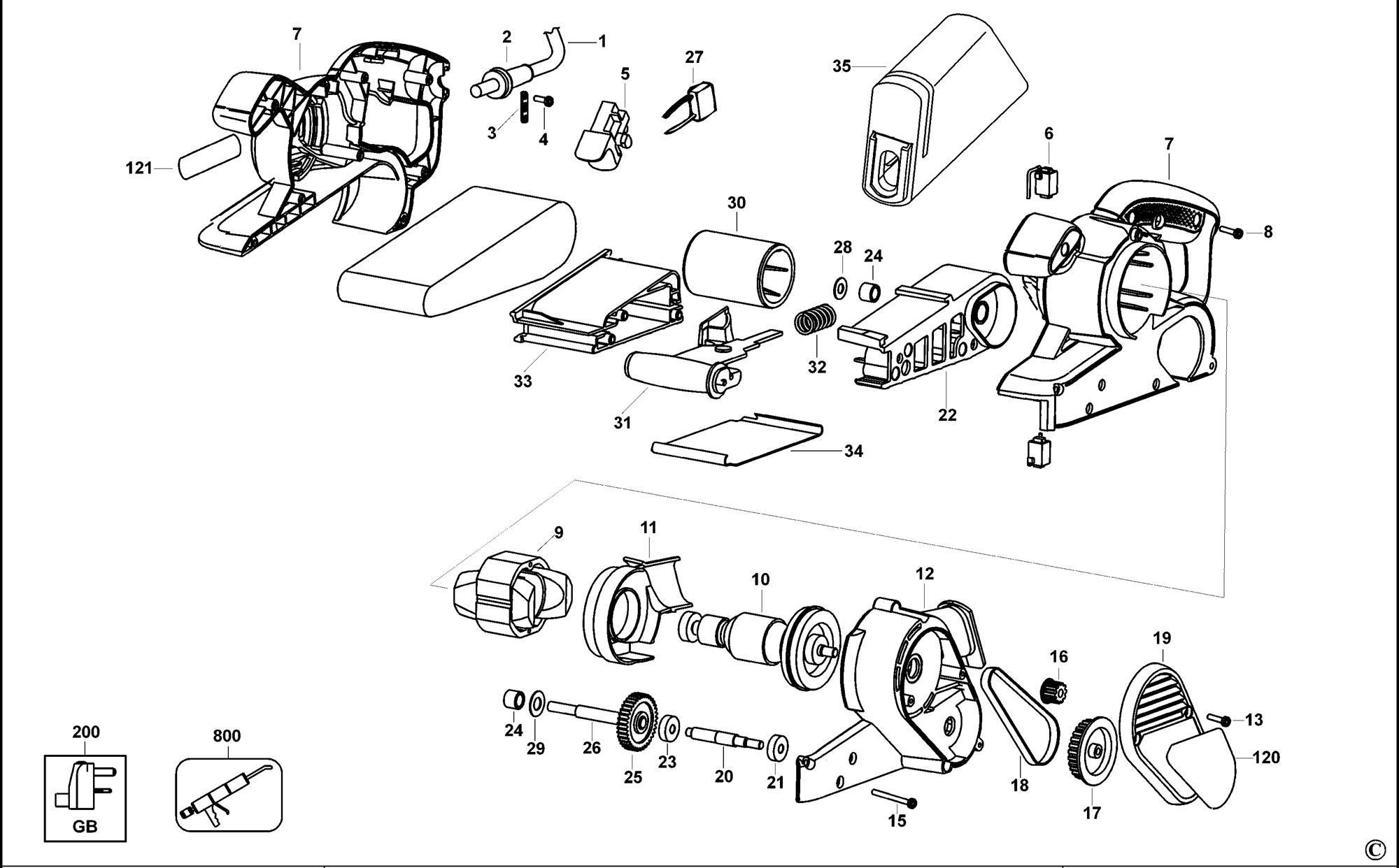 Spares For Black Amp Decker Ka86 Belt Sander Type 1 Spare