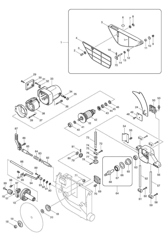 medium resolution of reversing direction of an ac universal motor likewise makita table saw wiring diagram