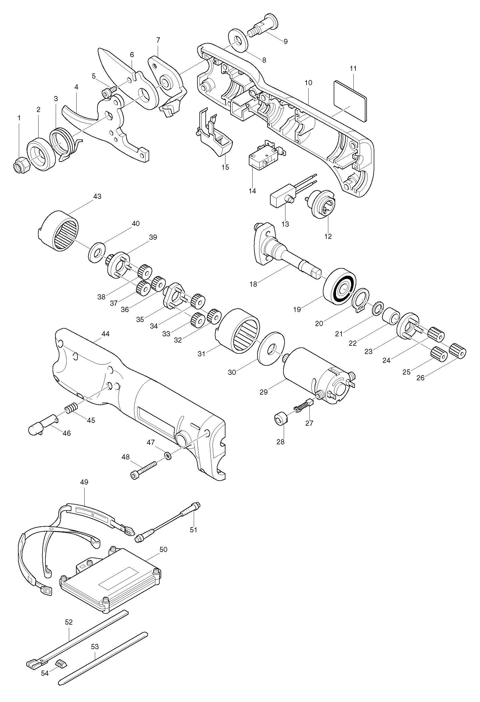 Spares For Makita D Shear Spare D From Power Tool