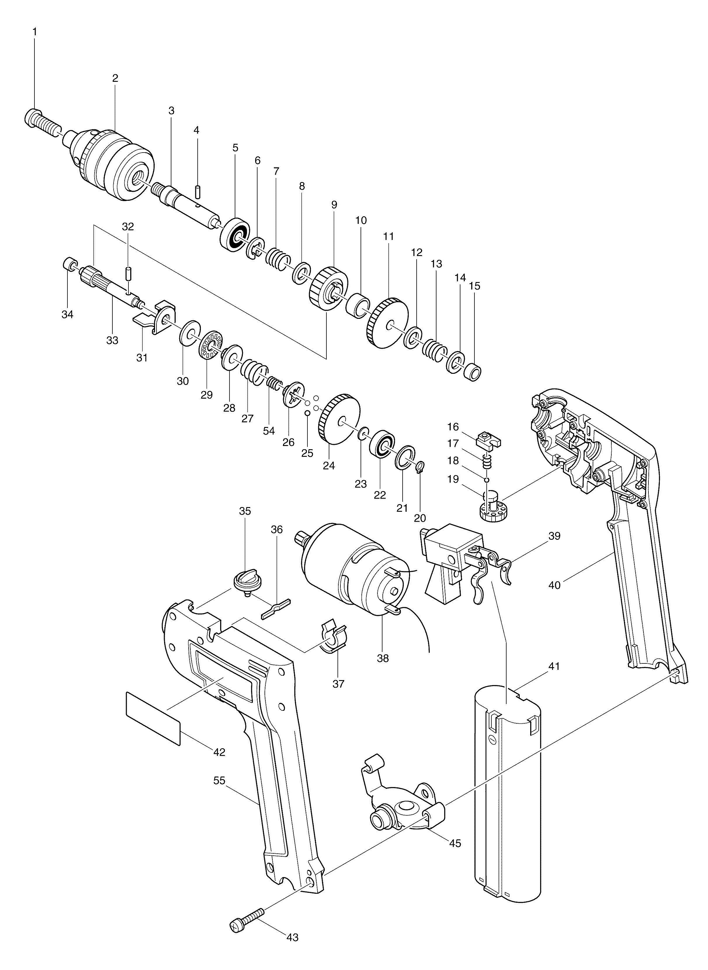 Spares for Makita 6012hd Drill/driver SPARE_6012HD from
