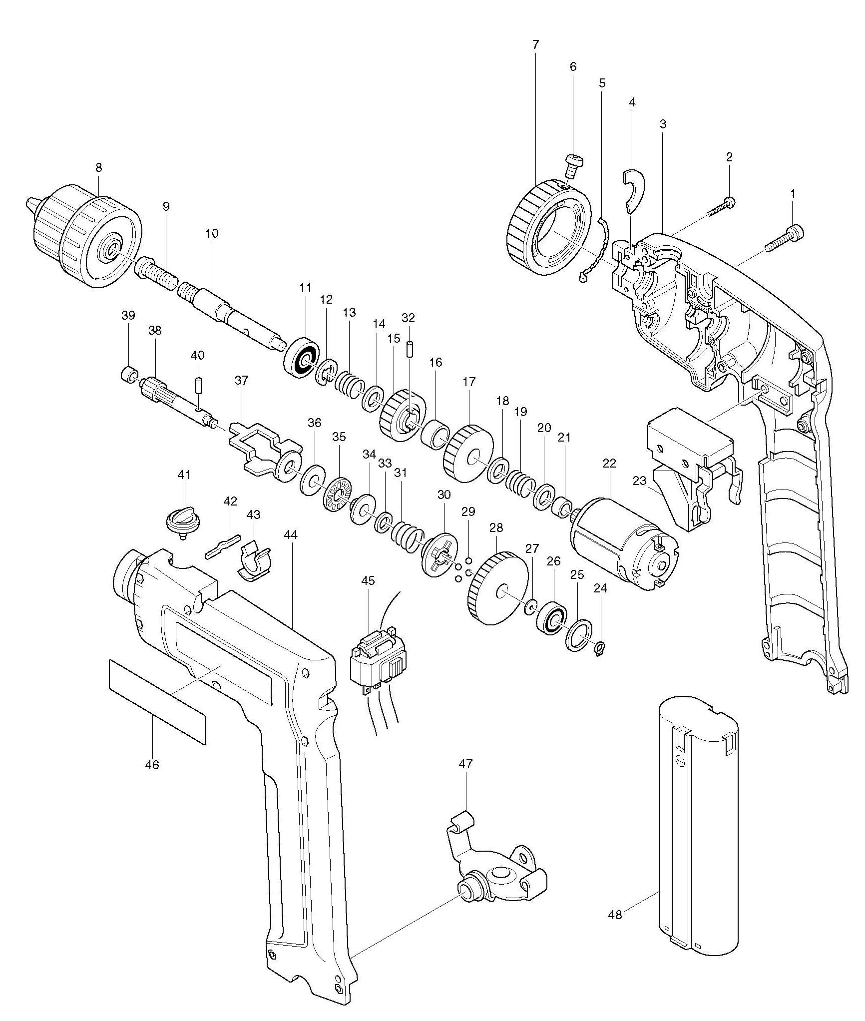 Spares for Makita 6095d Drill/driver SPARE_6095D from