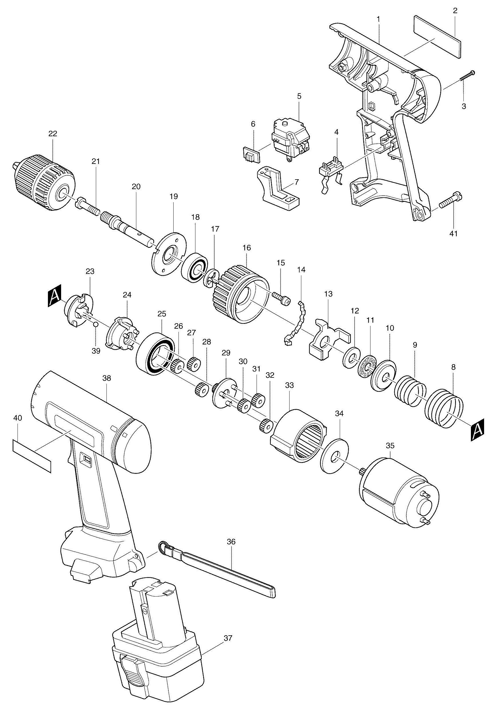Spares for Makita 6222d Drill/driver SPARE_6222D from