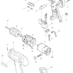 Parts Of A Drill Bit Diagram Ford Focus Wiring 2006 Spares For Makita 6313d Driver Spare From
