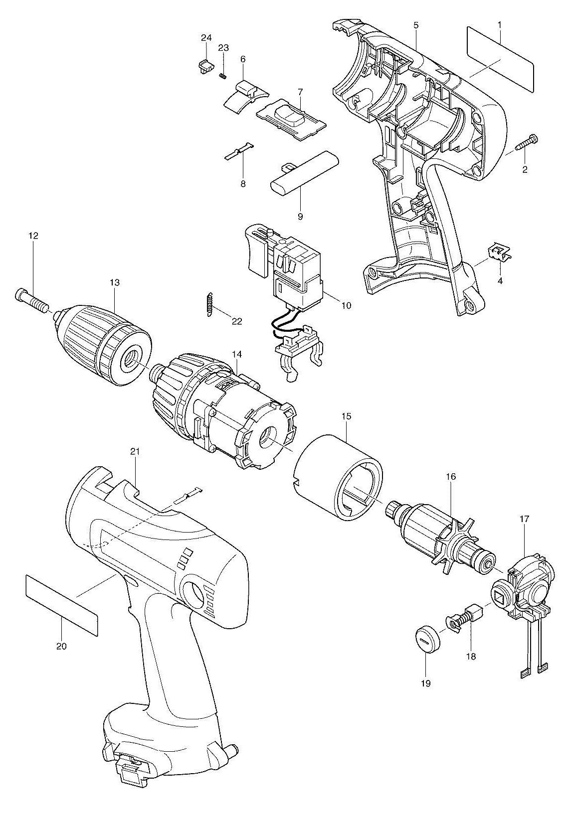 parts of a drill bit diagram chevy 350 engine wiring spares for makita 6337d driver spare from