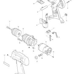 Parts Of A Drill Bit Diagram Software Wiring Spares For Makita 6343d Driver Spare From