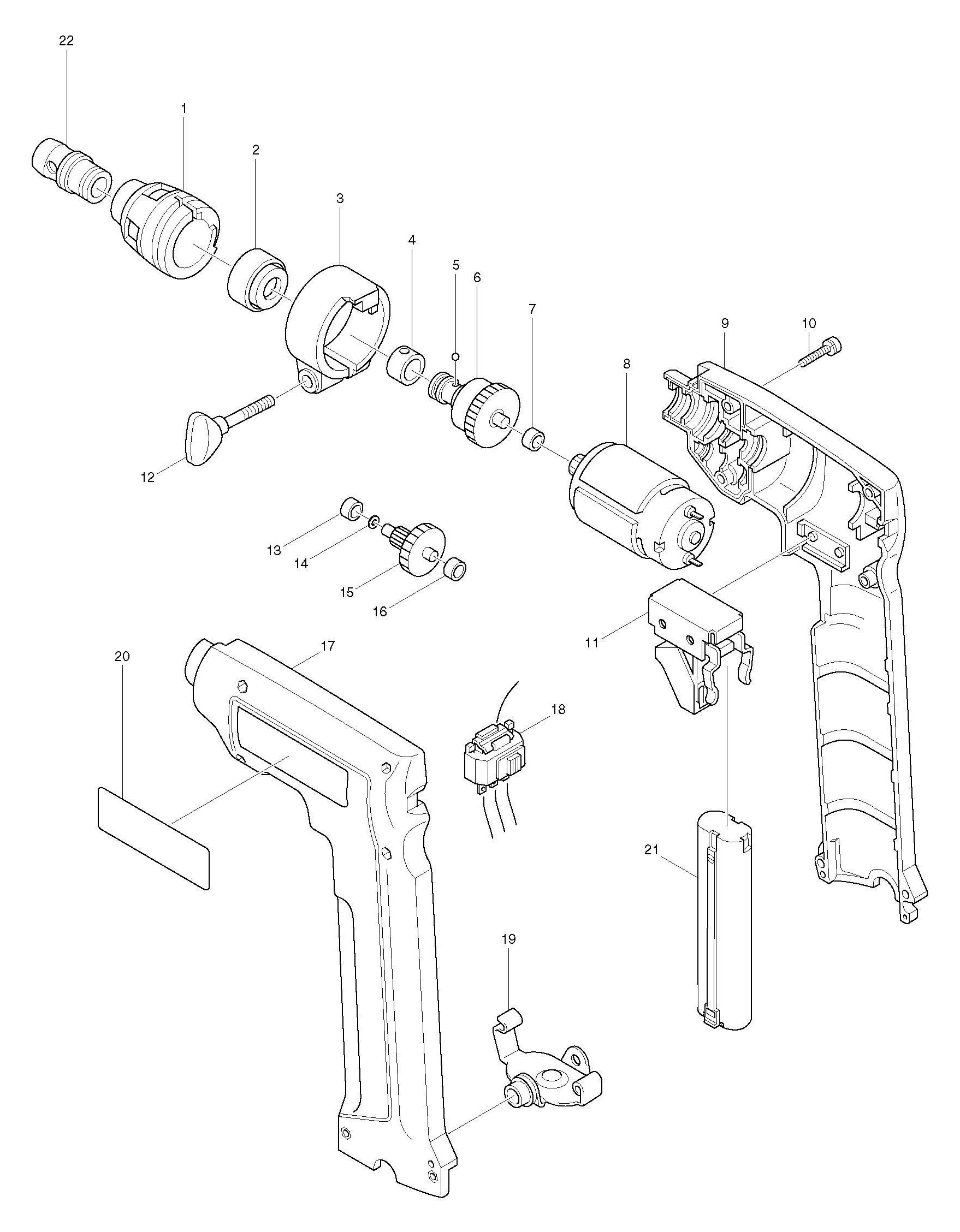 Spares for Makita 6891d Drill/driver SPARE_6891D from
