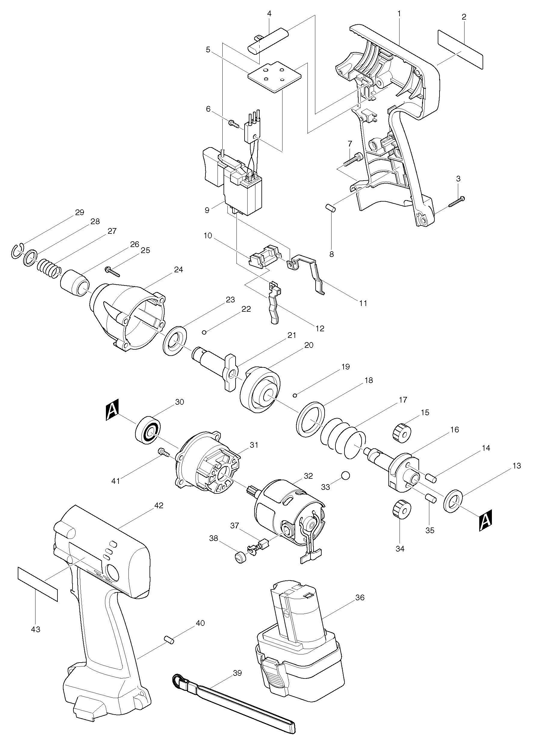 Spares For Makita D Impact Wrench Spare D From