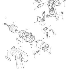 Parts Of A Drill Bit Diagram Fiero Radio Wiring Spares For Makita 8433d Combination Spare From