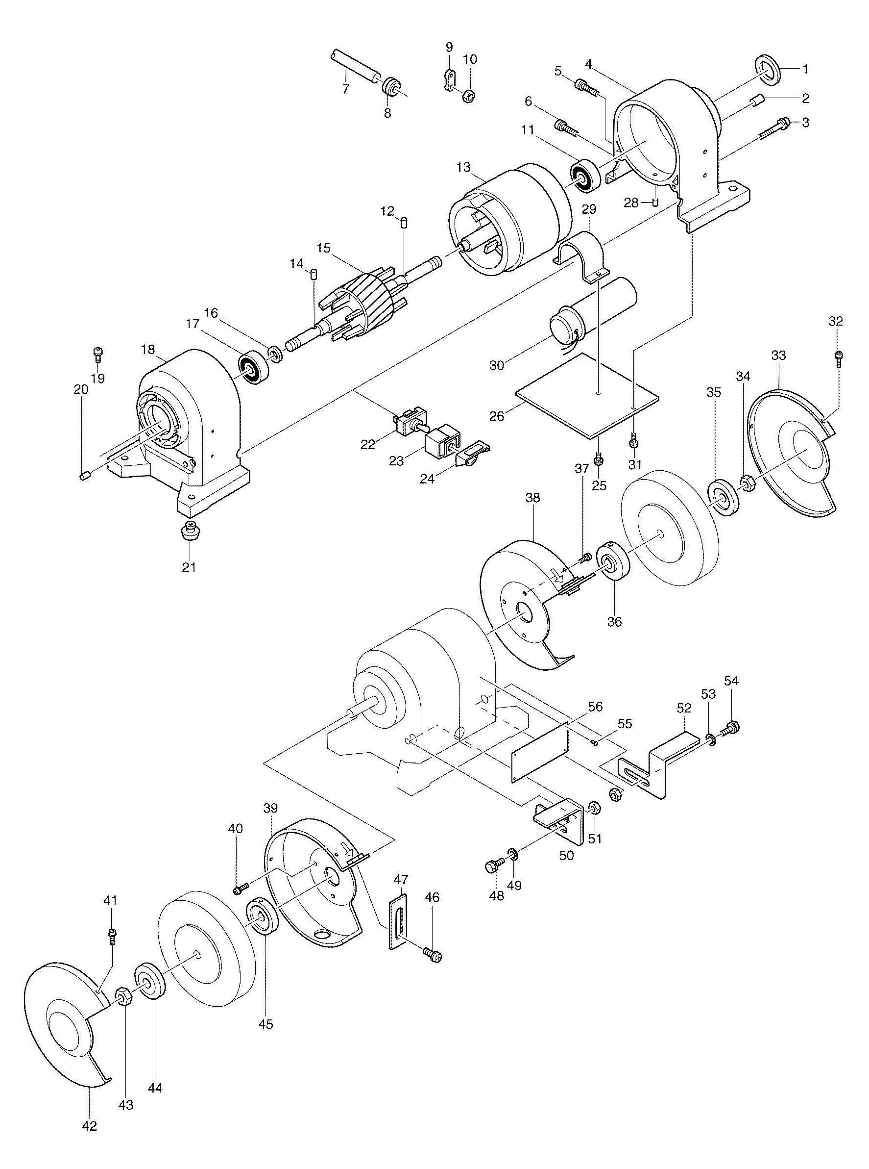 Spares For Makita Corded Bench Grinder 110v Amp 240v