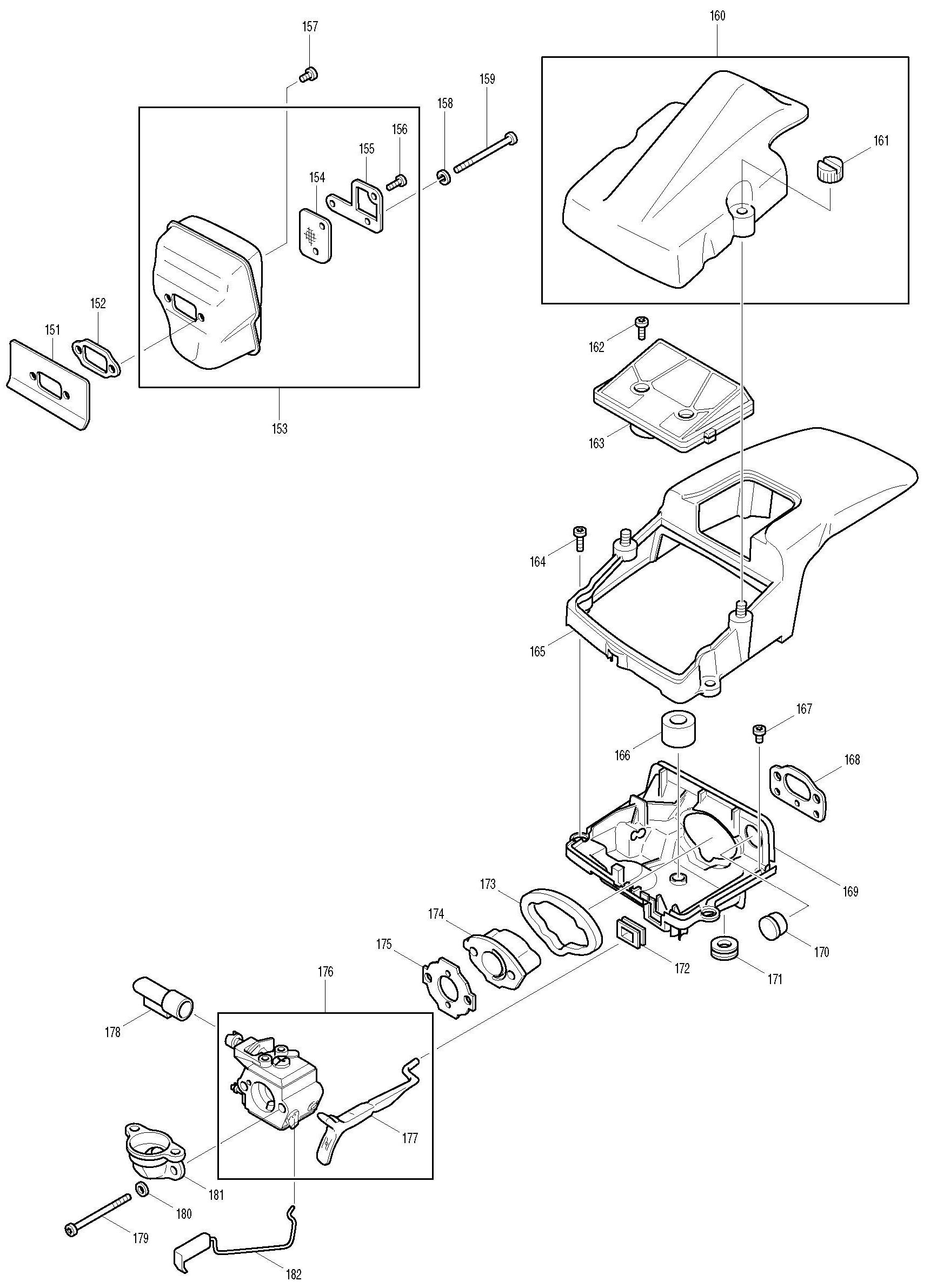 Spares for Makita Dcs520 Chainsaw 52cc SPARE_DCS520 from