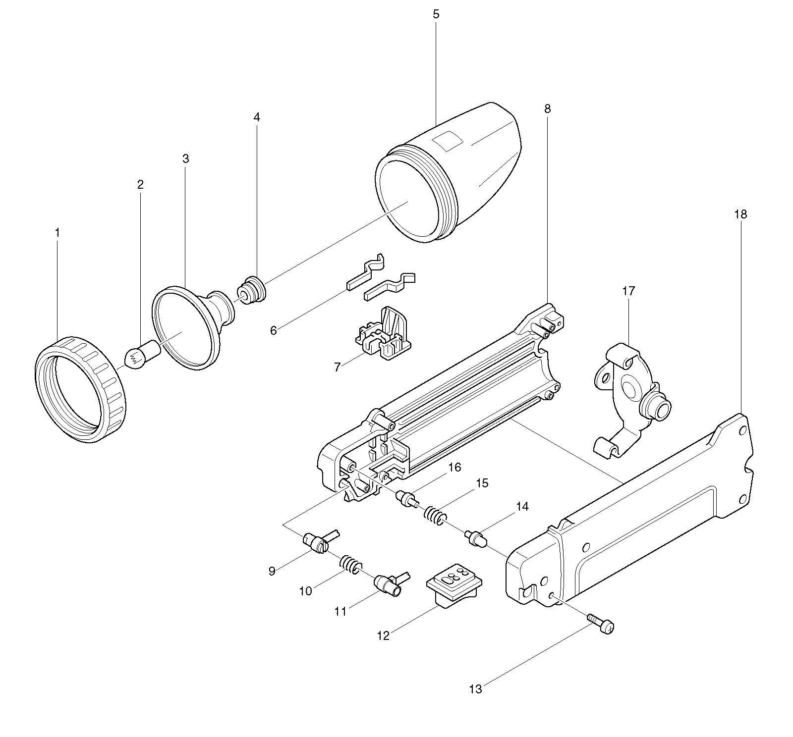 Spares for Makita Ml700 Torch SPARE_ML700 from Power Tool