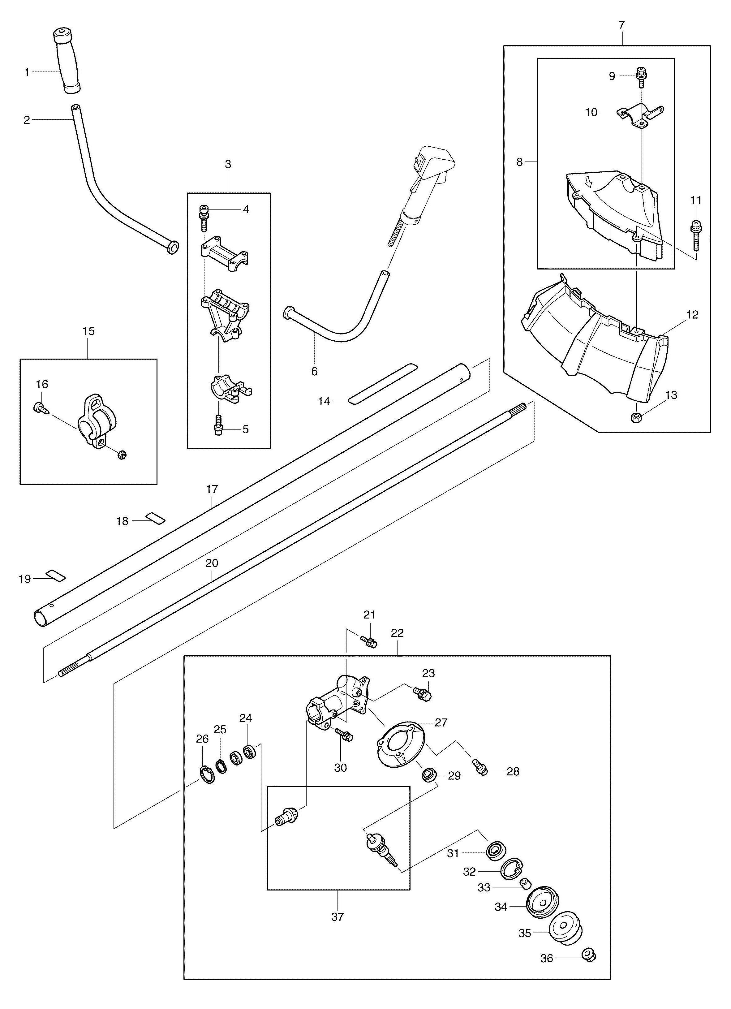 Spares for Makita Rbc3101 Line Trimmer 30.5cc SPARE