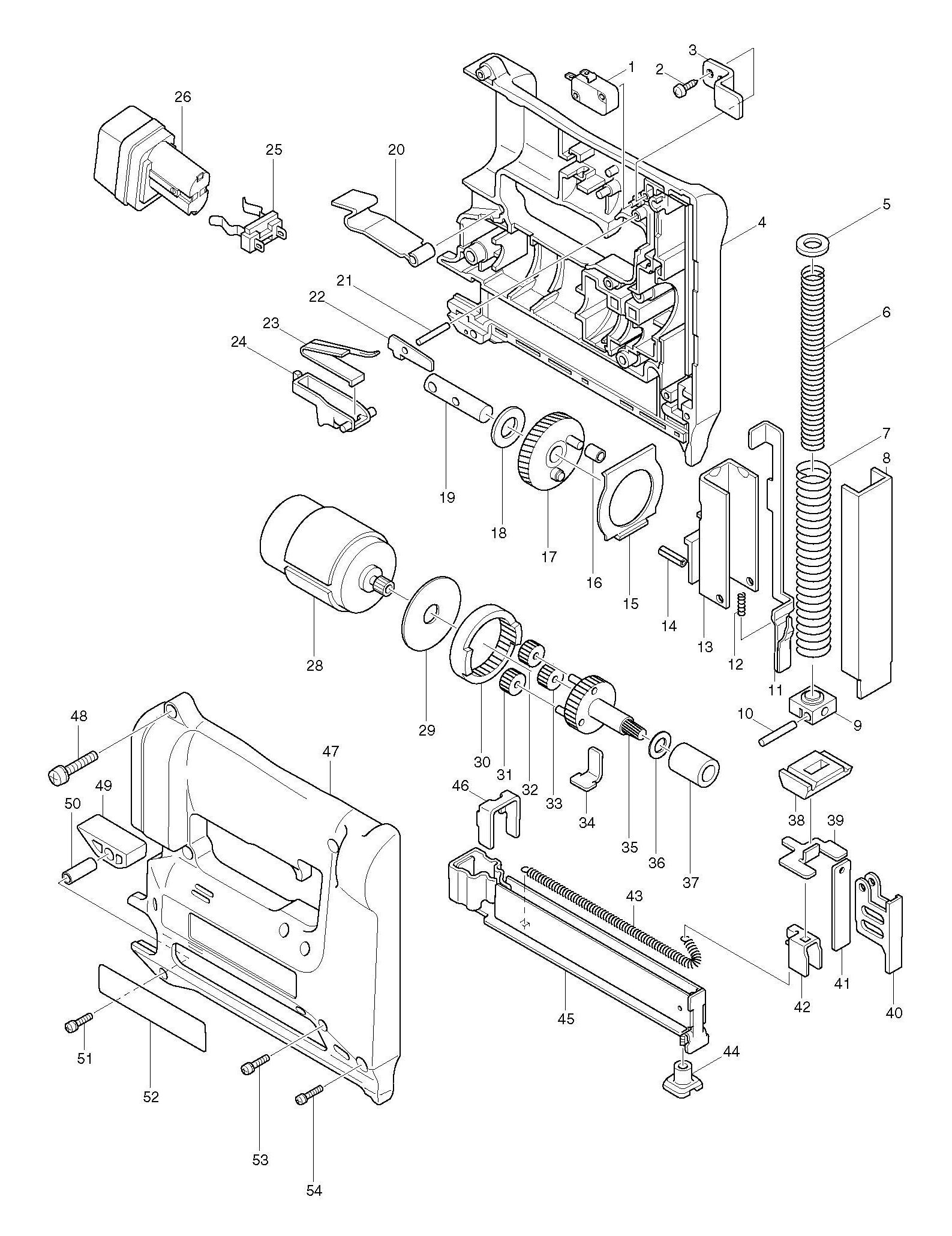 Spares for Makita T221d Stapler SPARE_T221D from Power