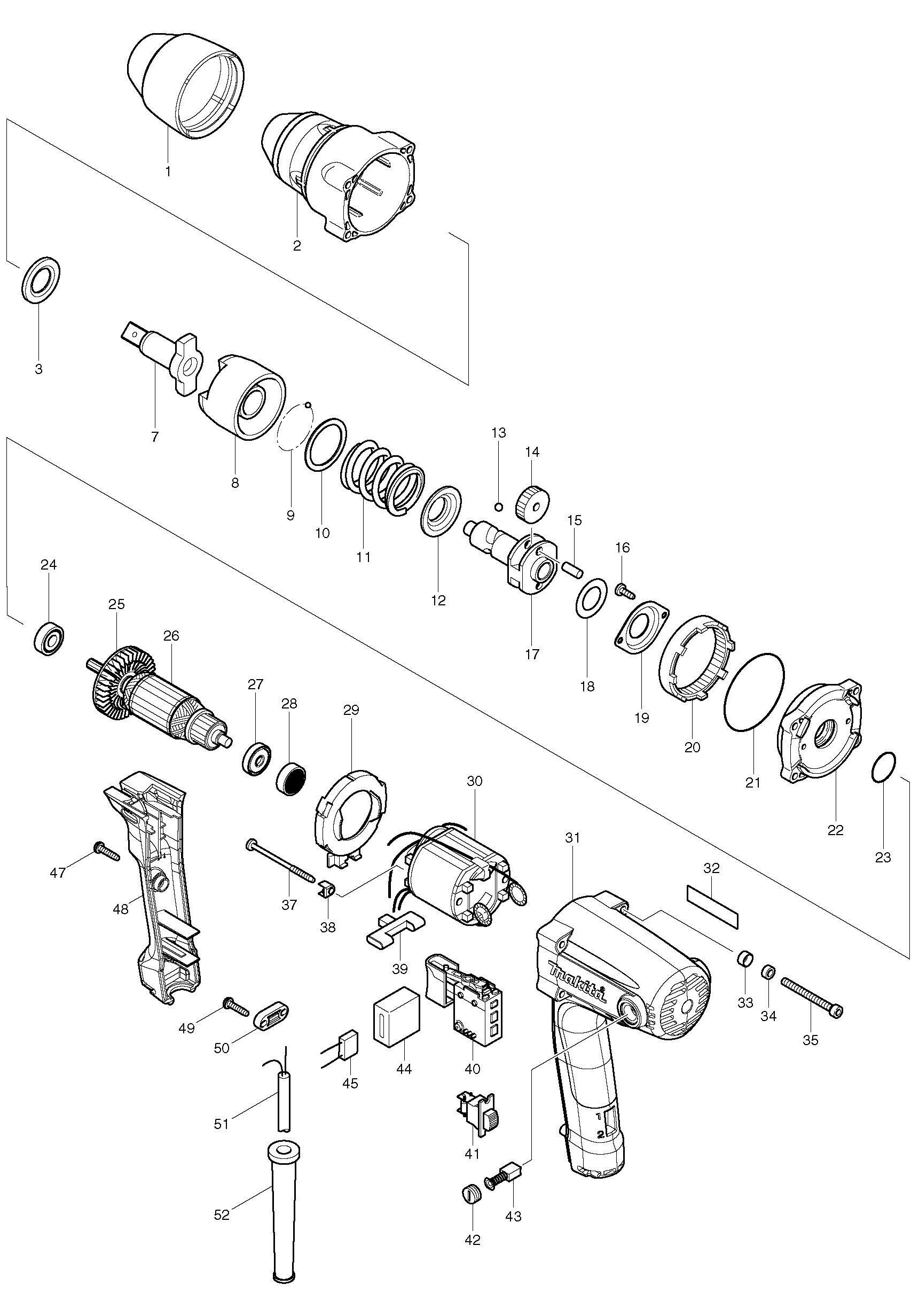Spares For Makita Tw Impact Wrench Spare Tw From