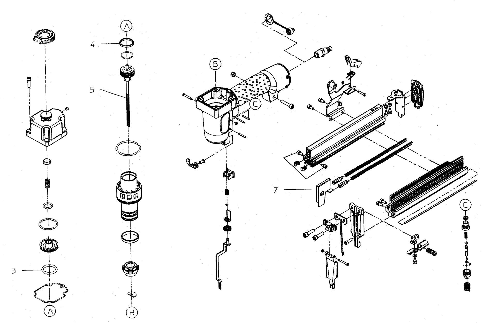 Spares For Metabo 10 Kombi 40 50 Air Pneumatic