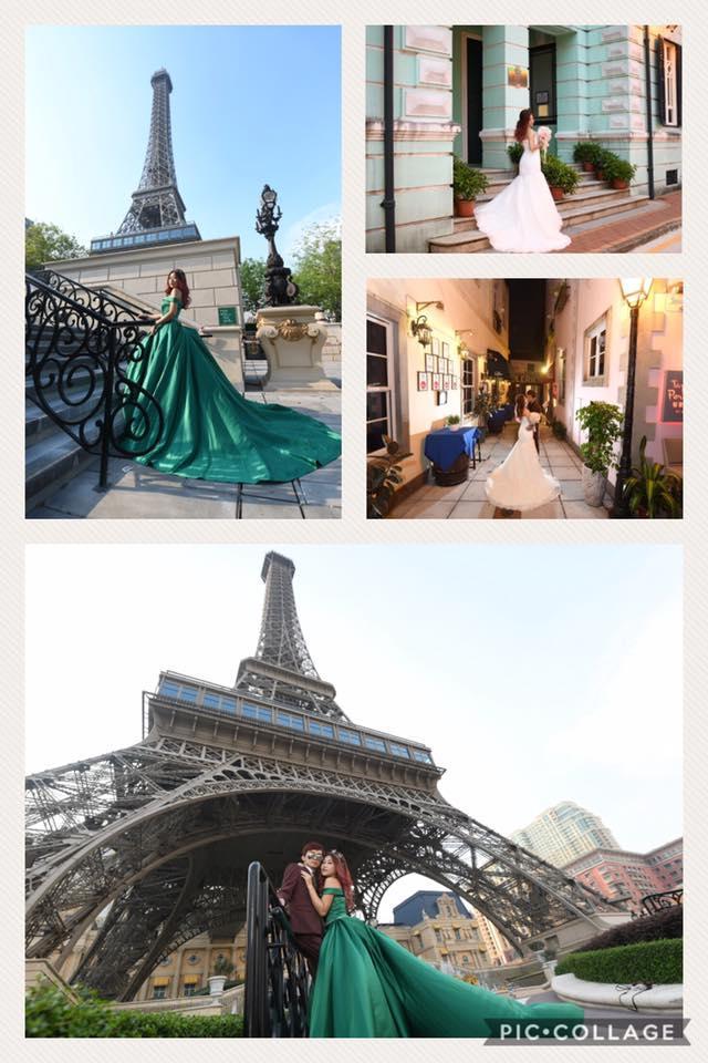 澳門巴黎人婚紗