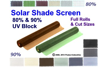 Super Shade Screen and Insect Screen Rolls and Cut Lengths