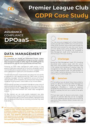 Premier League Club GDPR Case Study