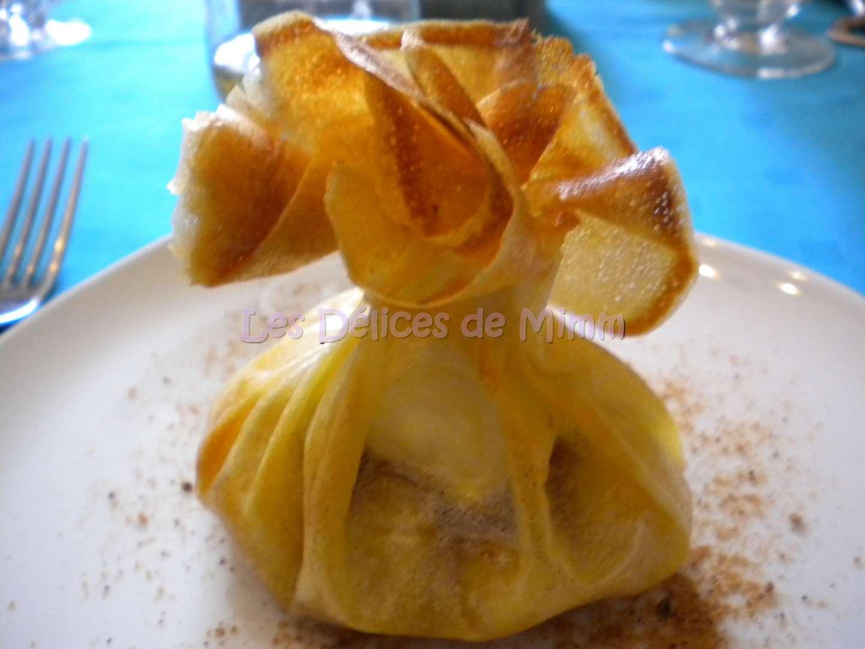 Aumnire de chvre pommes caramlises miel et pain d