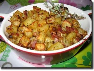pommes de terre paysannes en mini cocottes