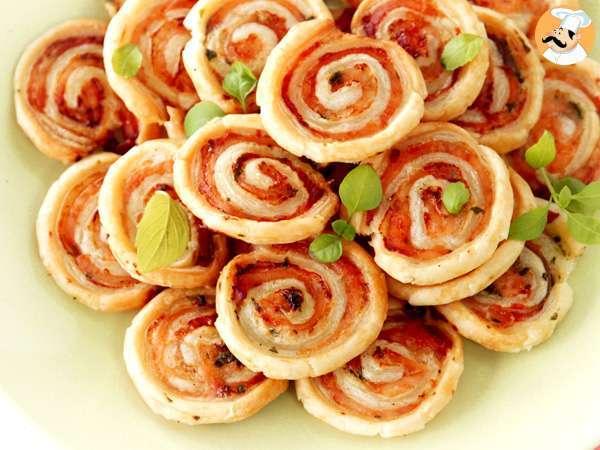 roules feuilletes aperitifs saumon basilic