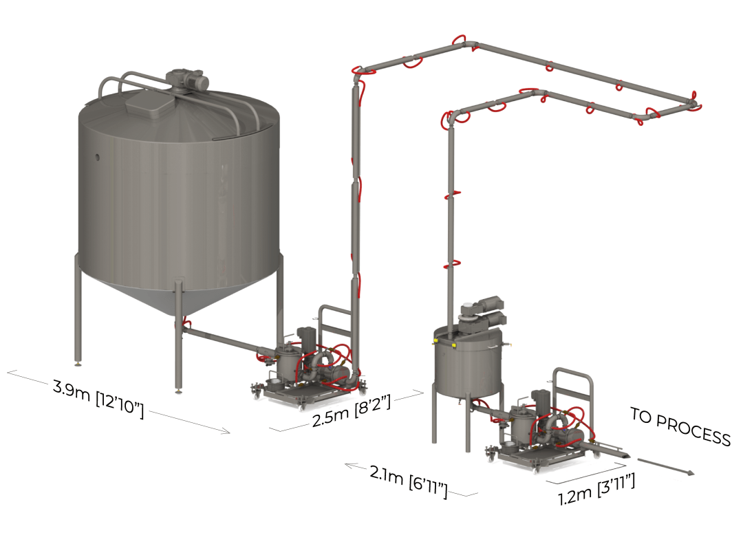 PTL large tank with extra pipework
