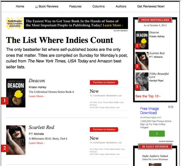IndieReaderTop10BestSellerSCARLETTRED