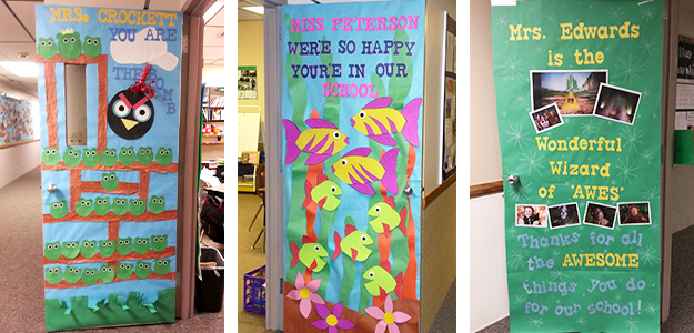 Teacher Appreciation Door Decorating IdeasTips for PTO