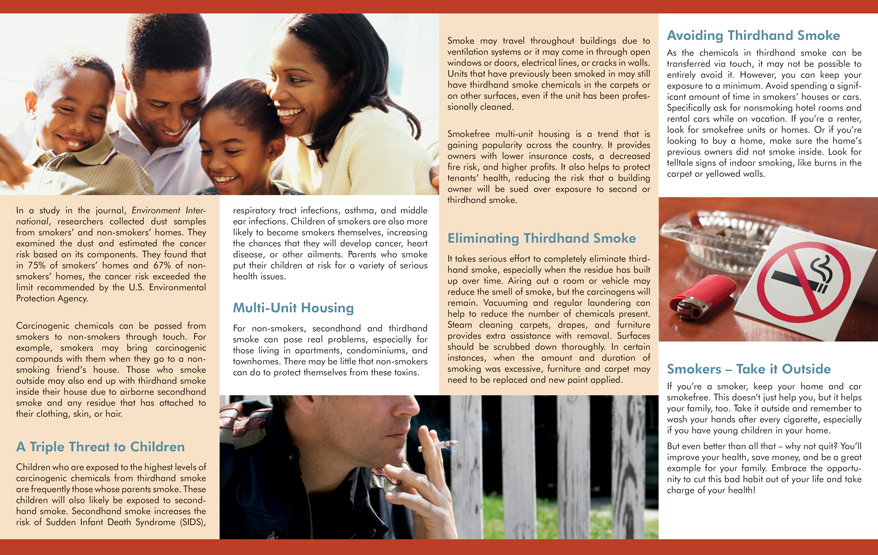 Secondhand Smoke Might Triple Childs >> Infocus Thirdhand Smoke Pamphlet