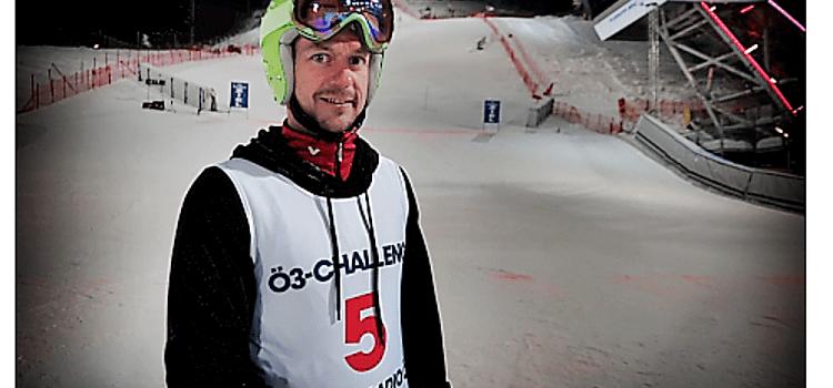 2019_01_29: Reinhard Scherz bei der Ö3-Skichallenge 2019