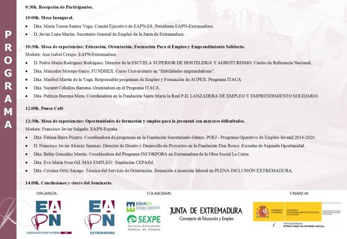 Programa Seminario Empleo Juvenil y FPE_Mérida