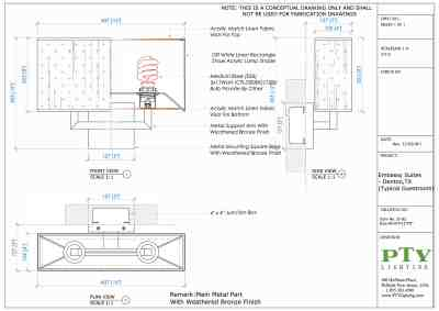 Custom Lighting Shop Drawings Embassy Suites