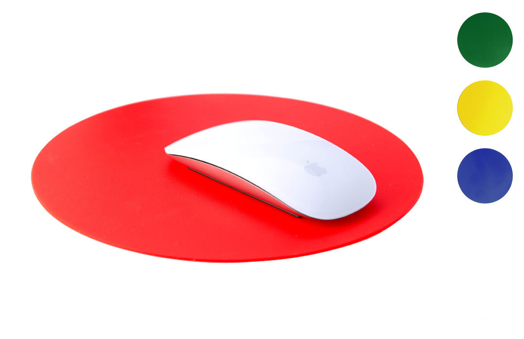 tapis de souris rond en silicone