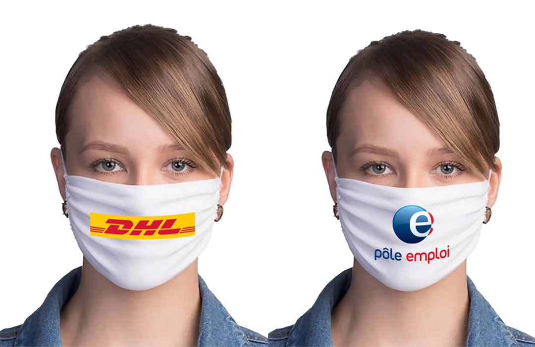 masque tissu personnalisé avec logo