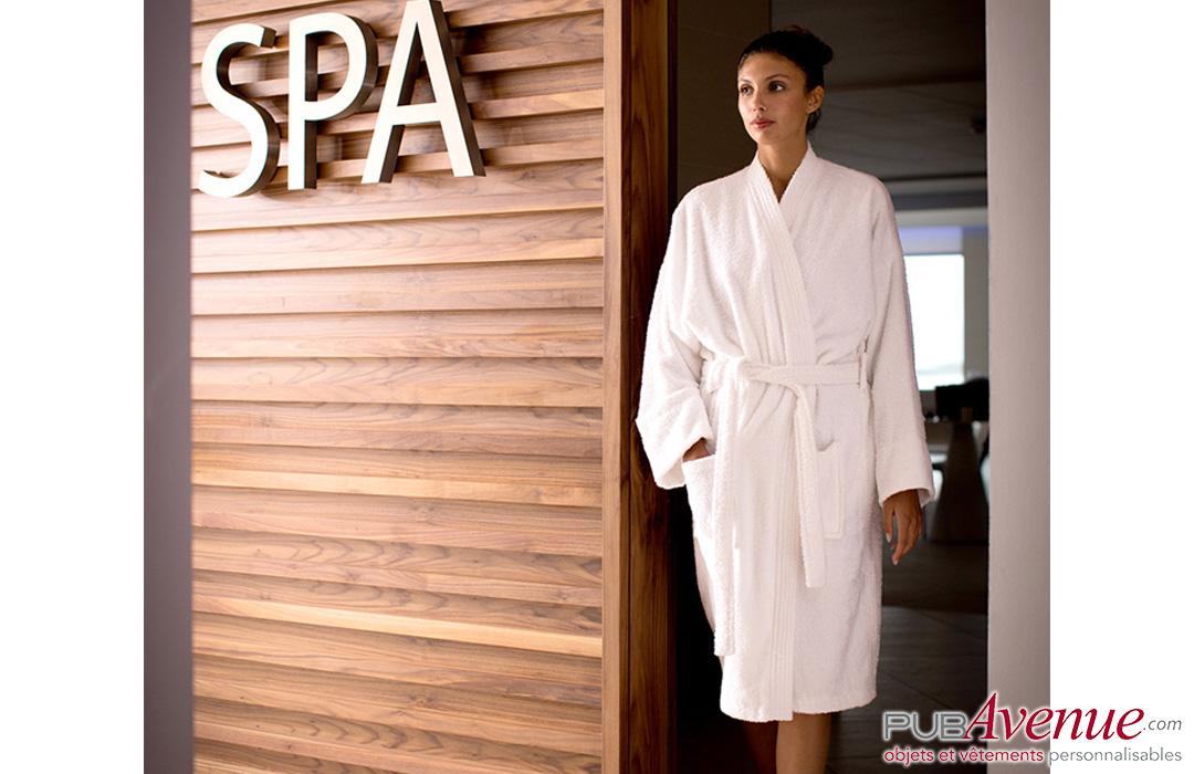 peignoir pour hotel et spa