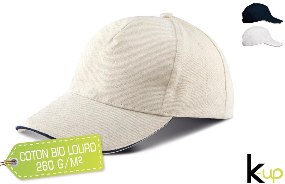 casquette personnalisée ecologique en coton bio