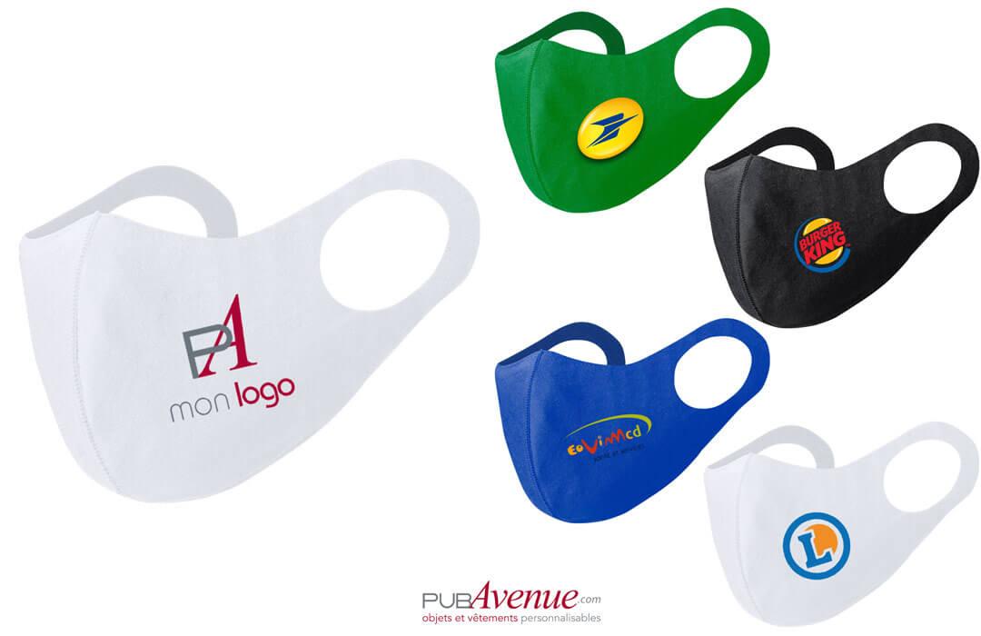 masque de protection contre le covid personnalisé avec logo