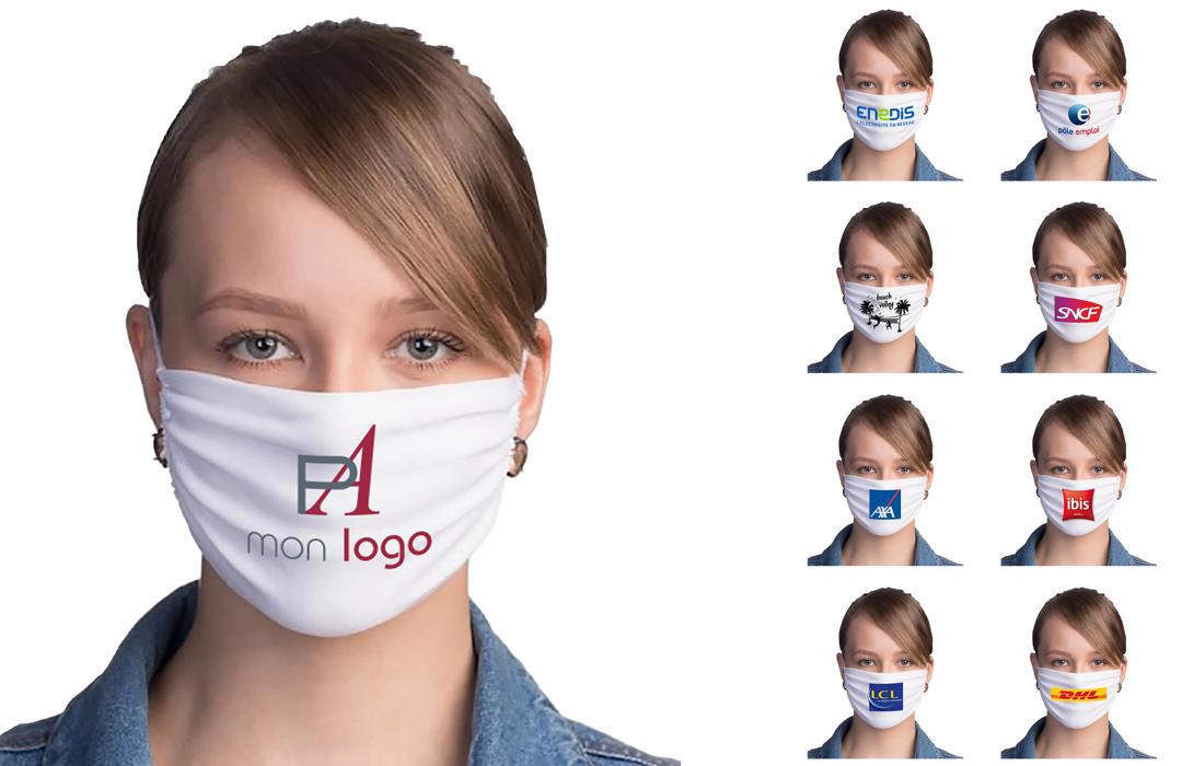masque de protection covid personnalisé