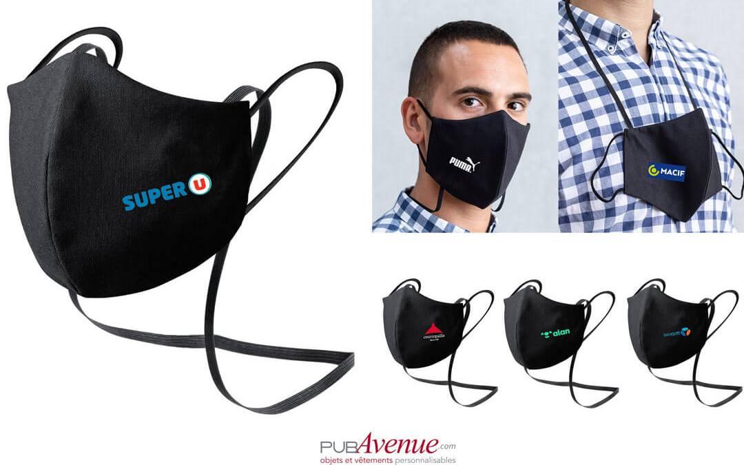 Masque personnalisé avec logo le meilleur Goodies de la rentrée