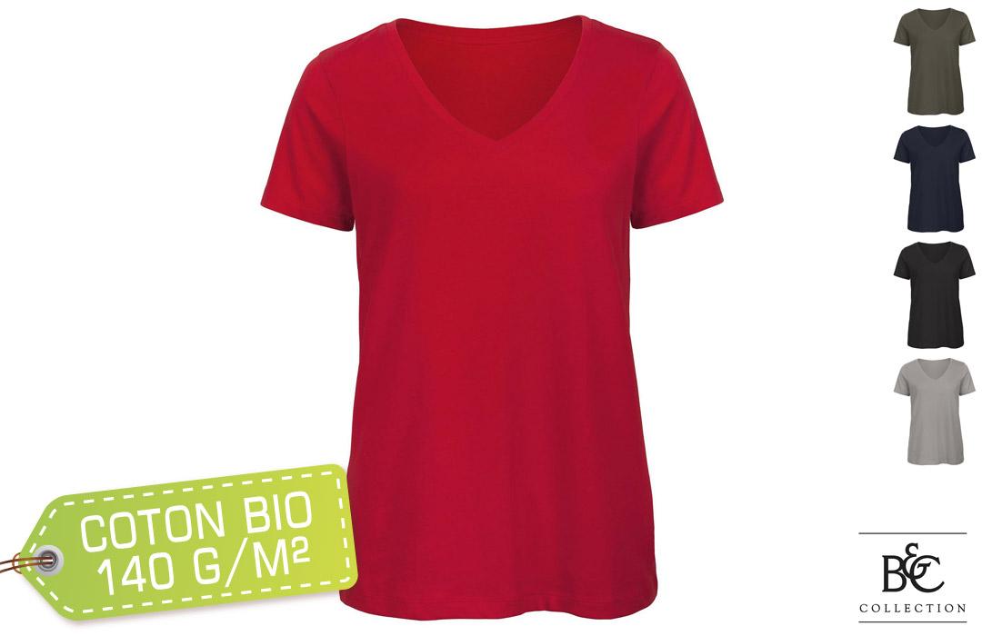 tee shirt femme en coton eco responsable