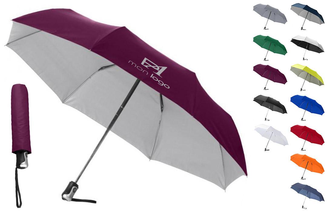 parapluie personnalisé haut de gamme floqué avec logo entreprise