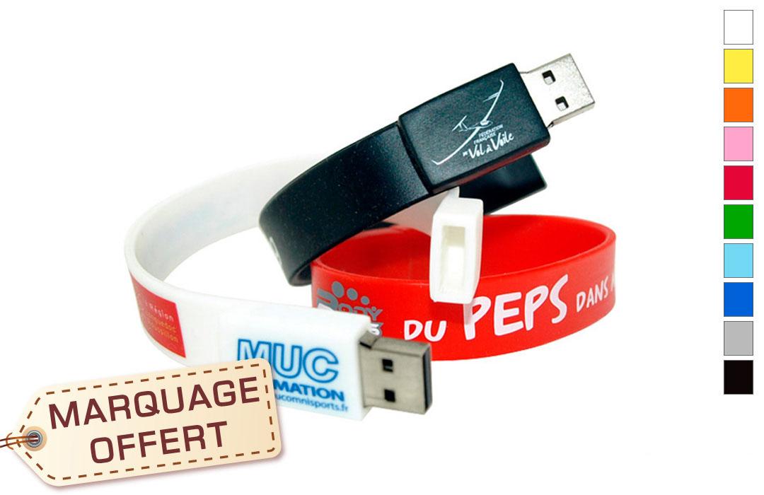 bracelet USB personnalisée avec photo - PubAvenue