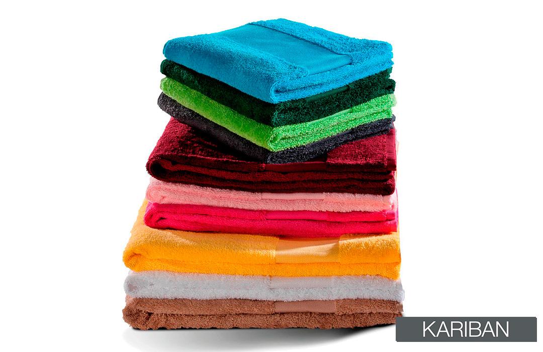 serviette de bain en coton de la marque kariban
